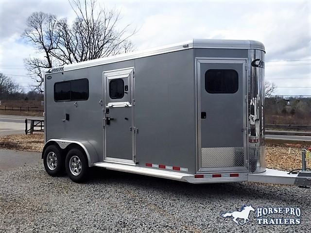 2019 Cimarron 2 Horse Warmblood Straight Load Bumper Pull w/WERM FLOORING & 6' DRESSING ROOM