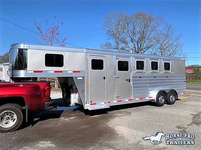 2019 Exiss 7400 4 Horse Slant Load Gooseneck w/POLYLAST FLOOR & INSULATED ROOF! in Ashburn, VA