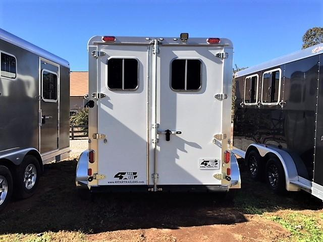 2019 4-Star 2 Horse Slant Load Bumper Pull - No Rear Tack