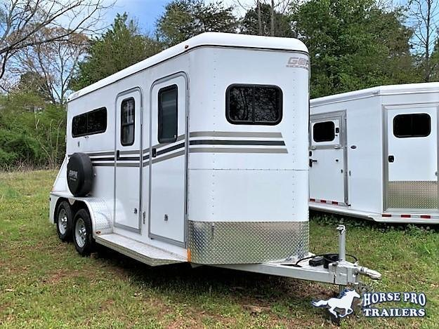 2015 Gore Trailers 2 Horse Straight Load Bumper Pull Horse Trailer
