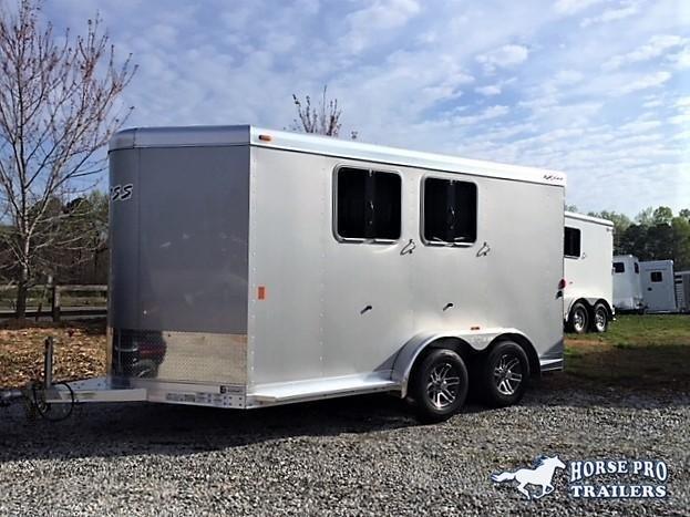 2018 Exiss 720 2 Horse Slant Load Bumper Pull w/Rear Tack