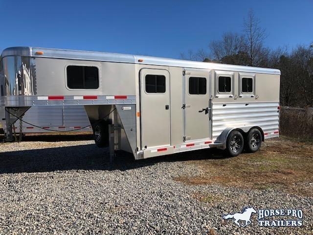 2019 Exiss 7300 3 Horse Slant Load Gooseneck- Easy Care Flooring
