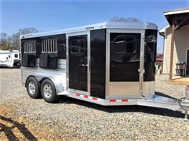 2019 Cimarron Showstar 16'6 Enclosed Low Profile Pig/Stock Bumper Pull w/Windows