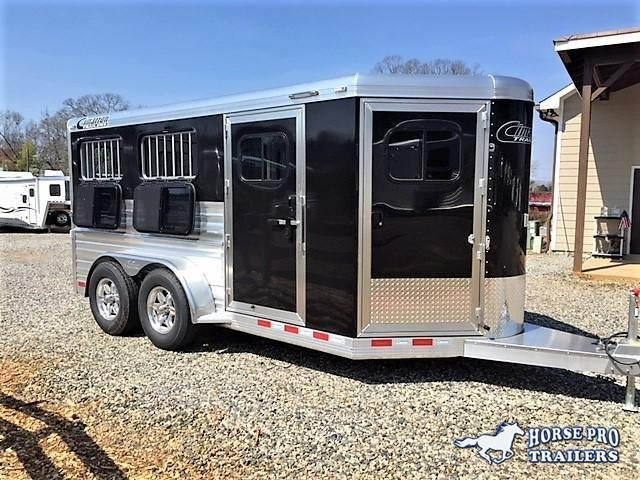 2019 Cimarron Showstar 16'6 Enclosed Low Profile Pig/Stock Bumper Pull w/Windows in Jewell, GA