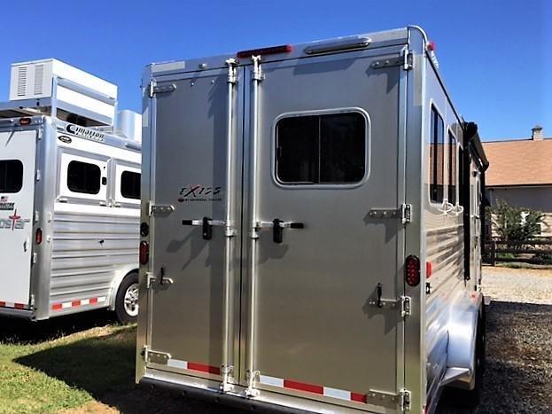 2019 Exiss Escape 3 Horse 8'6 Living Quarters- POLYLAST FLOOR!