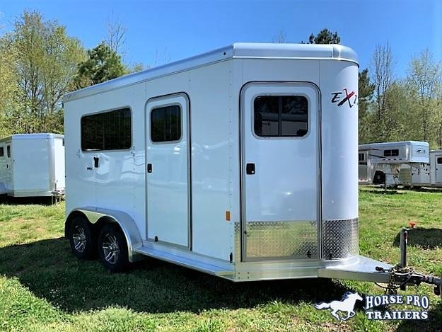 2019 Exiss Trailers 722 2 Horse Straight Load Bumper Pull Horse Trailer