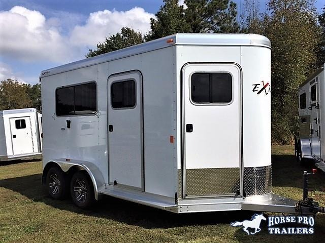 2018 Exiss 722 2 Horse Straight Load Bumper Pull in Murrayville, GA