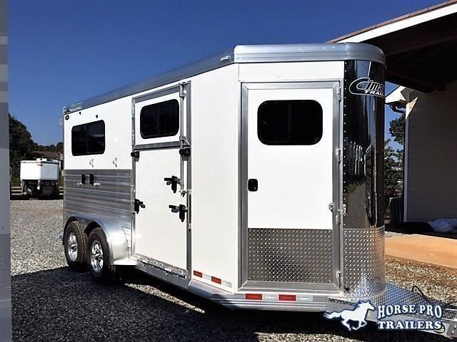 2020 Cimarron Norstar 2 Horse Straight Load Bumper Pull XL w/Side Ramp