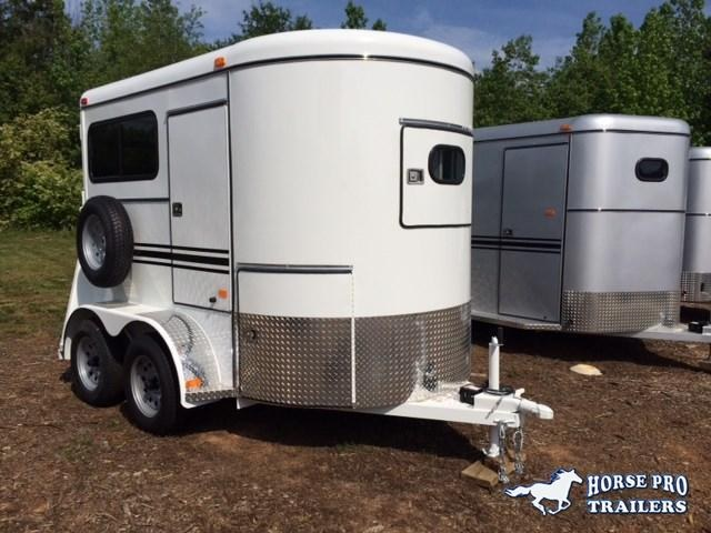 2019 Bee 2 Horse Straight Load Bumper Pull w/Windows
