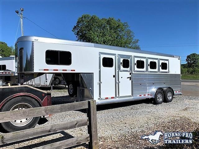 2020 Cimarron Norstar 4 Horse Slant Load Gooseneck w/Rear Tack