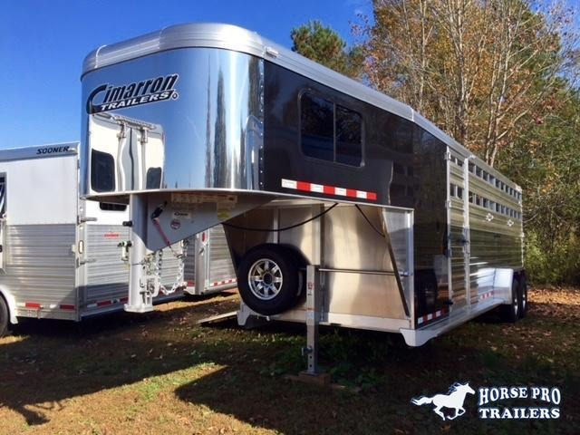 2019 Cimarron Lonestar 24' Stock Combo Gooseneck w/SIDE RAMP
