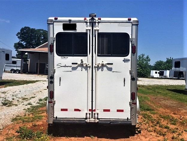 2008 Sundowner SunLite 740 4 Horse Head-to-Head Gooseneck- ALL ALUMINUM! NEW BRAKES!