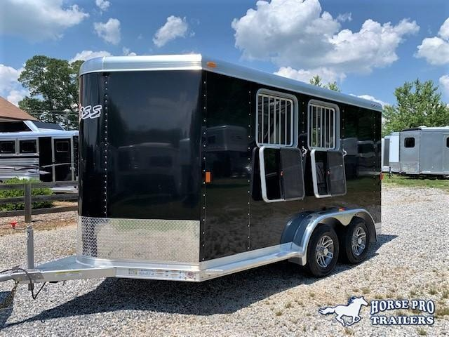 2018 Exiss 720 2 Horse Slant Load Bumper Pull w/Rear Tack & POLYLAST FLOOR! LIKE NEW!
