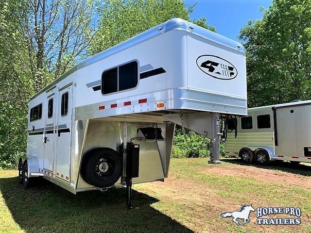 2020 4-Star 2 Horse Straight Load Gooseneck w/ WERM FLOORING & HYDRAULIC JACK!