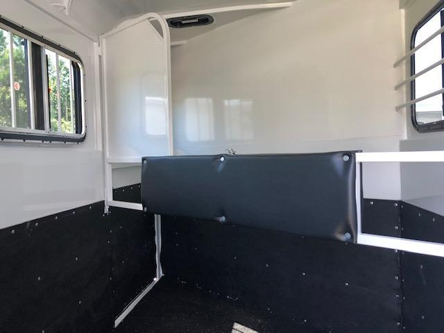 2019 Bee 2 Horse Slant Load Bumper Pull- FULLY ENCLOSED!