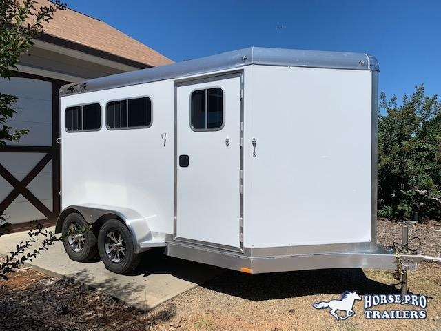 2020 4-Star 2 Horse Slant Load Bumper Pull - No Rear Tack