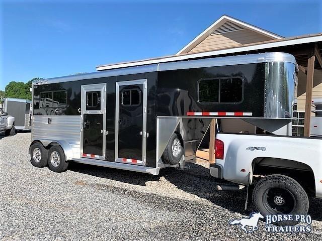 2019 Cimarron 2 Horse Straight Load Gooseneck w/STUD PANEL & 5' DRESSING ROOM!