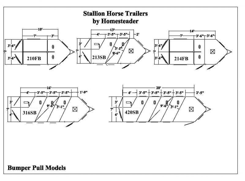 2020 Homesteader 2 Horse Slant  Bumper Pull