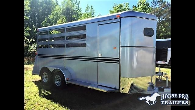 2019 Bee 3 Horse Slant Load Bumper Pull- Stock sides in Bishop, GA