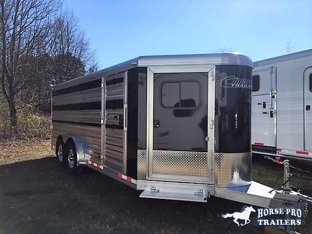 "2018 Cimarron Showstar 20'6 Low Profile Pig/Stock Bumper Pull - 7'6"" Wide w/ADJUSTABLE PENS!"
