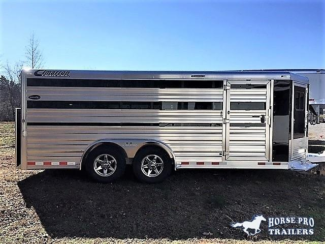 "2020 Cimarron Showstar 20'6 Low Pro Pig/Stock Bumper Pull - 7'6"" Wide w/ADJUSTABLE PENS!"