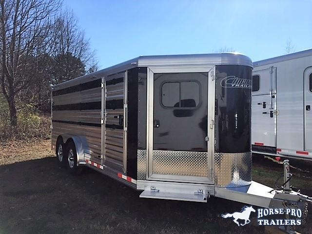 "2020 Cimarron Showstar 20'6 Low Pro Pig/Stock Bumper Pull - 7'6"" Wide w/ADJUSTABLE PENS! in Ashburn, VA"