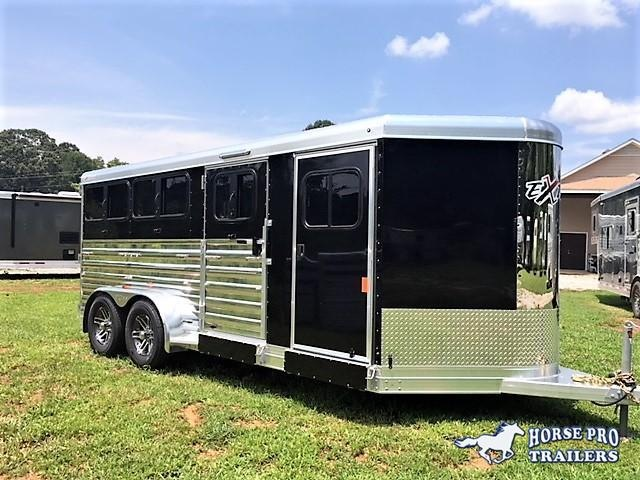 2019 Exiss Exhibitor 16' Low Profile Pig/Stock Bumper Pull w/Windows in Jewell, GA