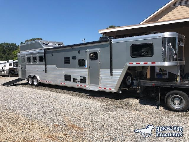 2020 Cimarron Trailers Norstar 4 Horse 15'8 Outback Living Quarters Horse Trailer