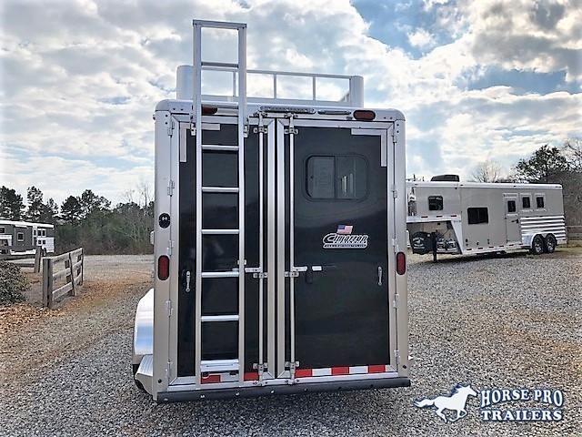 2019 Cimarron 3 Horse Slant Load Bumper Pull w/Rear Tack & Hayrack
