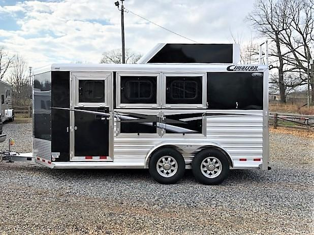 2019 Cimarron Norstar 3 Horse Slant Load Bumper Pull w/Rear Tack & Hayrack