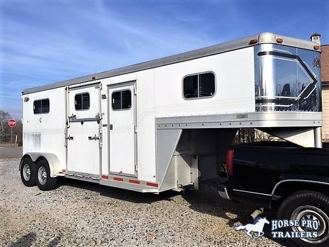 2000 Dream Coach 2 Horse Straight Load Gooseneck w/SIDE RAMP