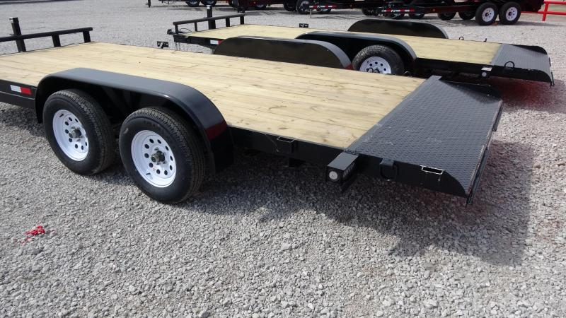 18' 5STAR Flatbed Tandem Axle Car Hauler/Equipment Trailer W/Dovetail