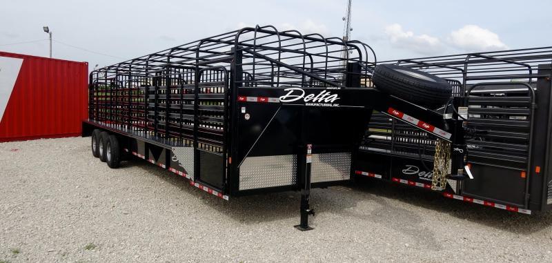 2019 Delta Manufacturing 2019 32 Delta 600 Cattleman Open/Bar Top Goosene Livestock Trailer