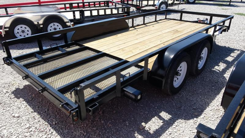 """16'x76"""" Tandem Axle Utility Trailer With 4' Fold-in/out HD Gate"""