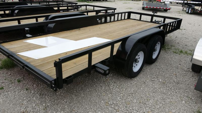 "16'x76"" 5STAR Tandem Axle Utility Trailer With Removable Side Rail ATV Ramps For Side/Rear Loading"