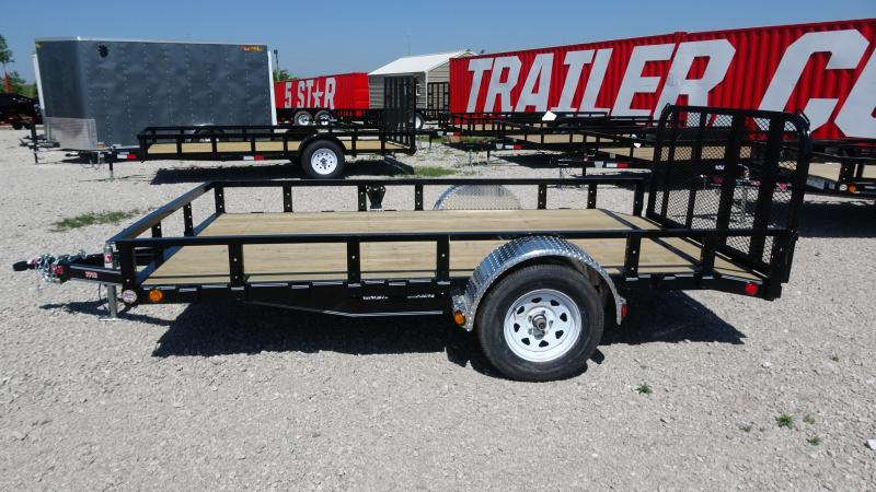 """2020 PJ 12'x77"""" Single Axle Channel Utility with dovetail and 3' Fold-up Gate"""