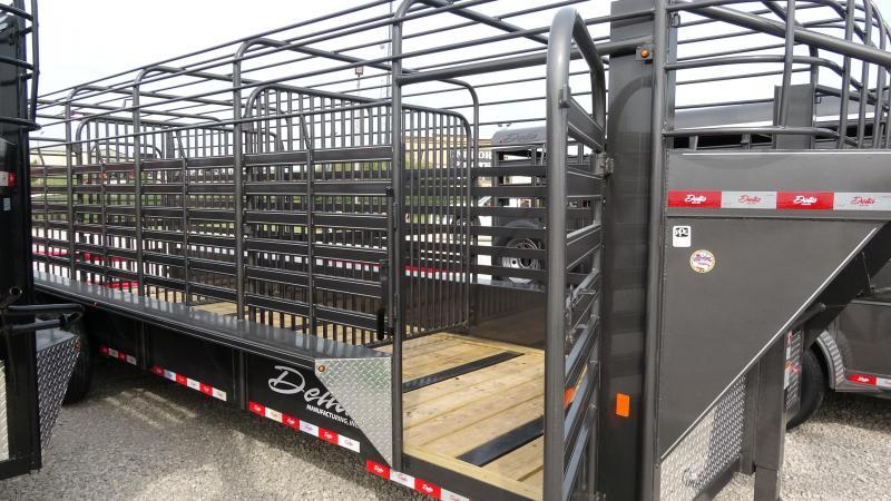2019 Delta Manufacturing 2019 24 Delta 600 Cattleman Open/Bar Top Goosene Livestock Trailer