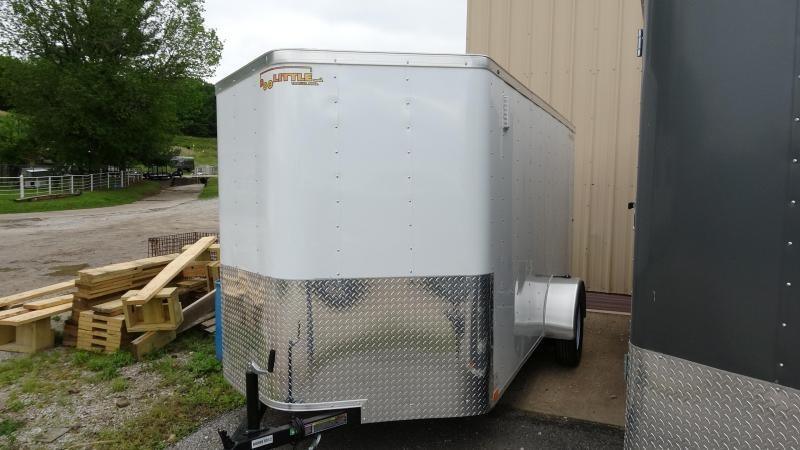 2019 12x7 Doolittle Bullet Series Enclosed Trailer Single 3500lb Axle White