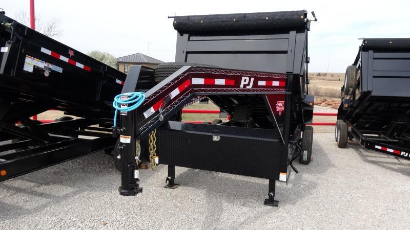 "2020 PJ Trailers 83""x16' Gooseneck High Side Dump/4' Sides Includes Tarp Kit  (CL)"