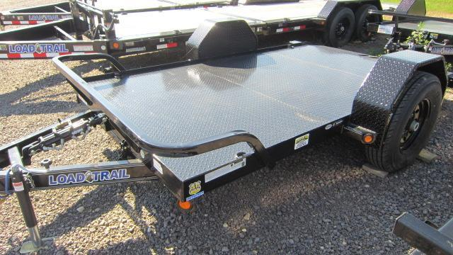 2019 Load Trail 77x12 Single Axle Scissor Hauler Flatbed Trailer