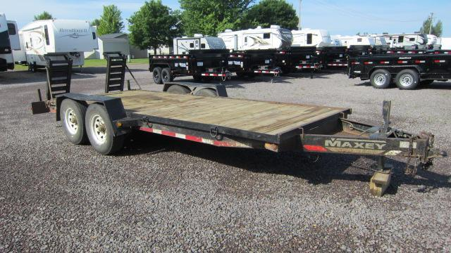 1999 MAXEY 7x18 Flatbed Trailer