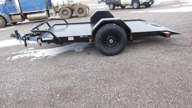 2019 Load Trail 77x12 Single Axle Scissor Hauler Flatbed Trailer