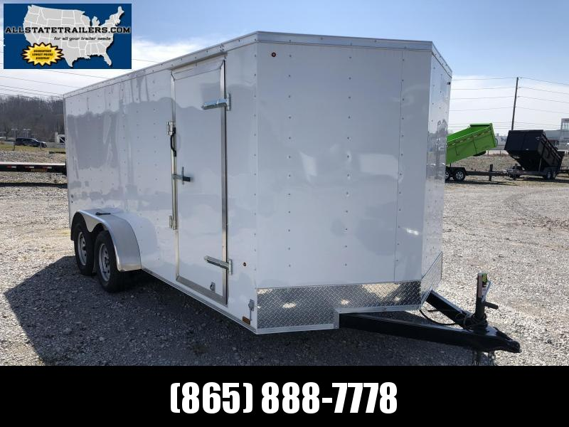 2019 Look Trailers STLC7X16TE2  (7 X 16)  Ramp Door V-Nose Cargo / Enclosed Trailer in Mills River, NC