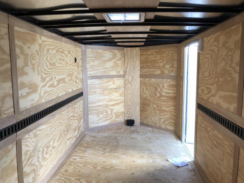 2019 Look Trailers 10000# GVWR  EWLC7X16TE3  (7 X 16) Element Ramp Door V-Nose Cargo / Enclosed Trailer