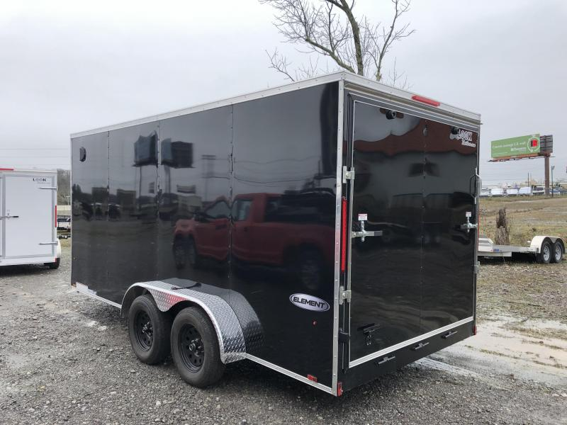 2020 Look Trailers EWLC7X16TE2SE  (7 X 16) Element Ramp Door V-Nose Cargo / Enclosed Trailer