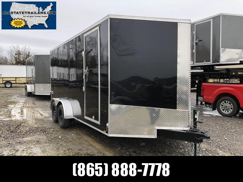 2020 Look Trailers EWLC7X16TE2SE  (7 X 16) Element Ramp Door V-Nose Cargo / Enclosed Trailer