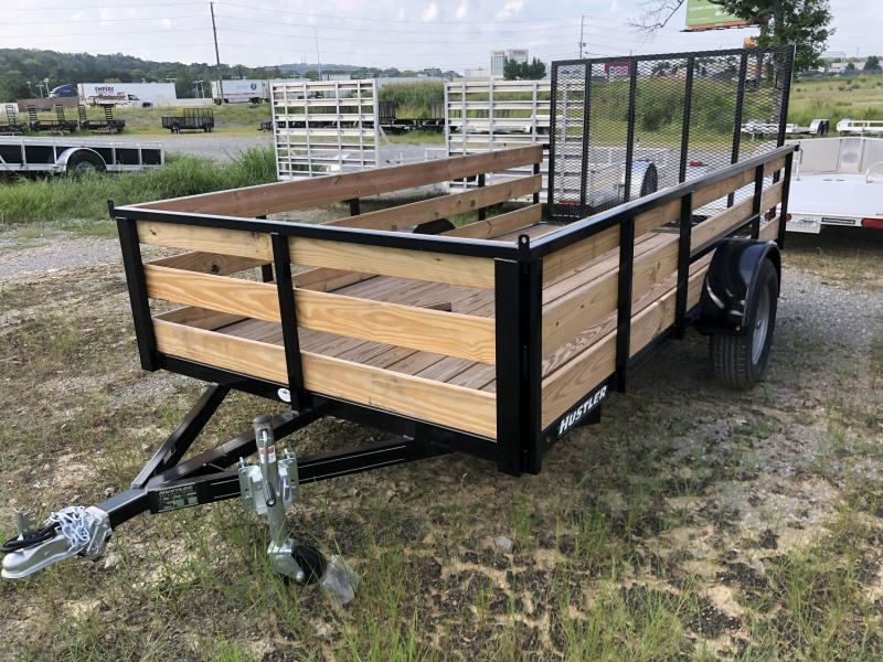 2019 Hustler U1272-15 Utility Trailer 6 x 12 (2' Wood Sides)