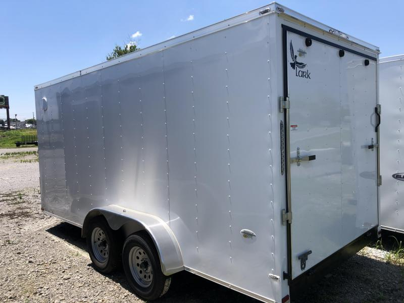 2019 Lark (7 x 16) 7000#GVWR Ramp Door VT716TA Enclosed Cargo Trailer