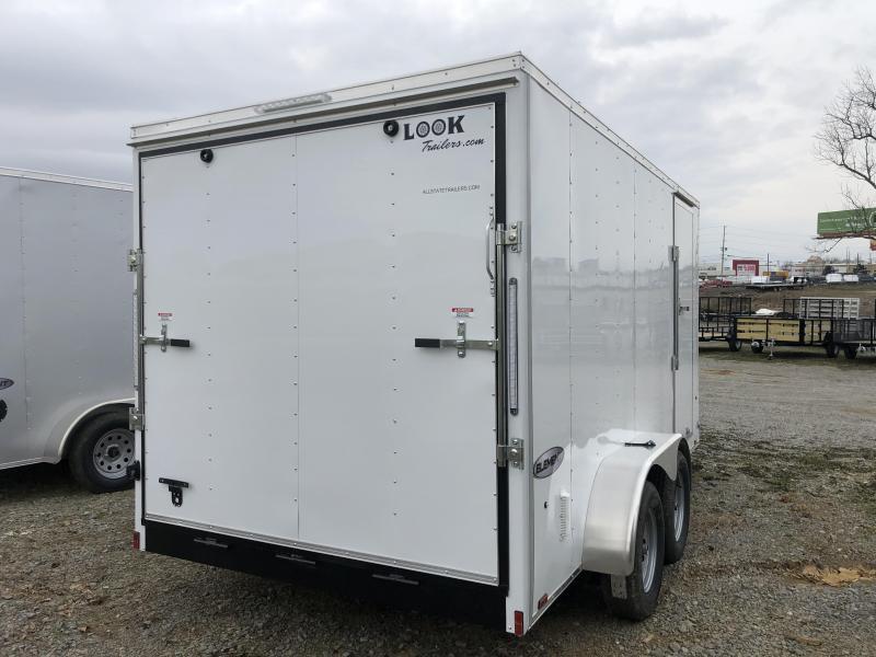 2020 Look Trailers EWLC7X14TE2  (7 X 14) Element Ramp Door V-Nose Cargo / Enclosed Trailer