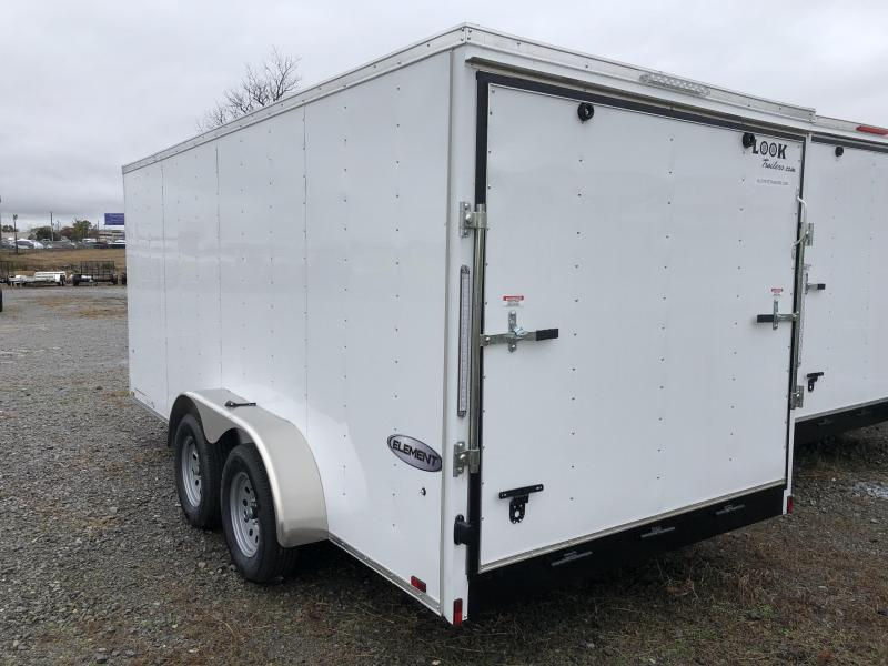 2019 Look Trailers EWLC7X16TE2  (7 X 16) Element Ramp Door V-Nose Cargo / Enclosed Trailer